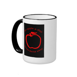 Mug-an apple a day -keep doctor away ringer mug