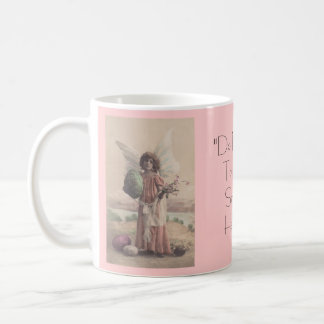 Mug ~ Antique Easter Angel & Bible Quote Strangers