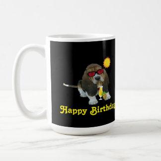 Mug Baby Basset Hound Summer Time Happy Birthday Basic White Mug