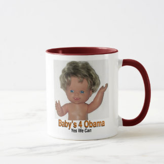 Mug    Baby's 4 Obama   Yes We Can!!
