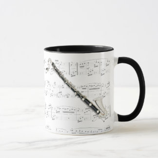 Mug - Bass Clarinet with sheet music