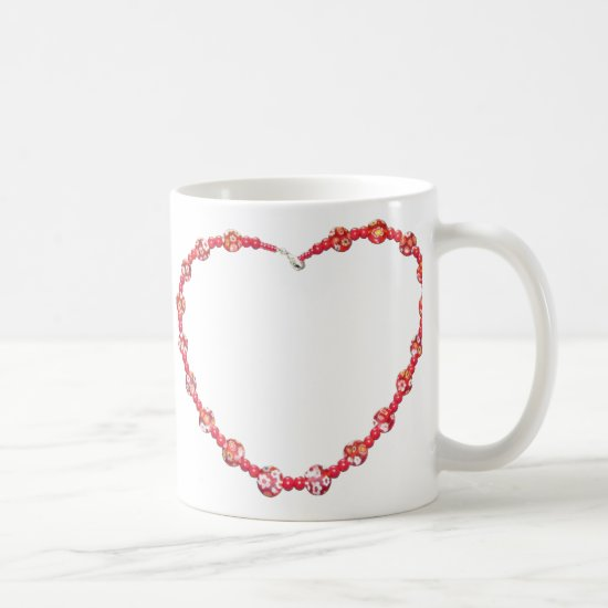 Mug - Beaded Red Heart
