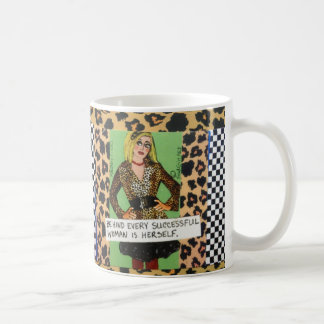 MUG-BEHIND EVERY SUCCESSFUL WOMAN IS HERSELF
