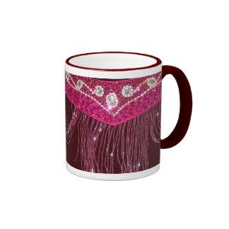mug bellydance fringe pink arabic costume