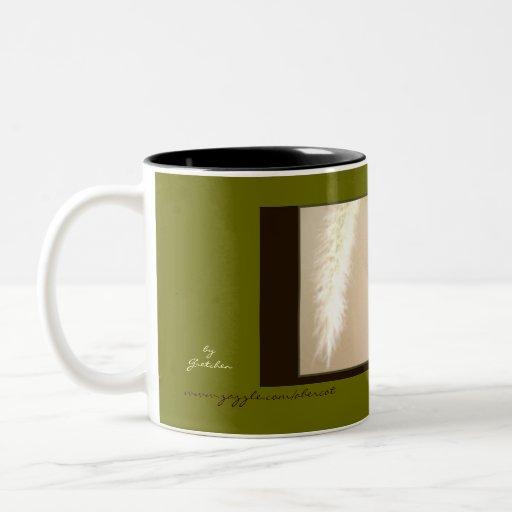 Mug, Beverage - Feather and Vase