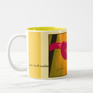 Mug, Beverage - Pink Lily by Door Two-Tone Coffee Mug