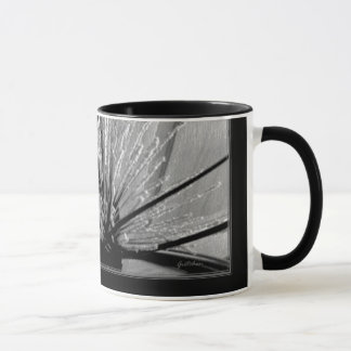 Mug, Beverage - White Heather and Grasses in B & W Mug