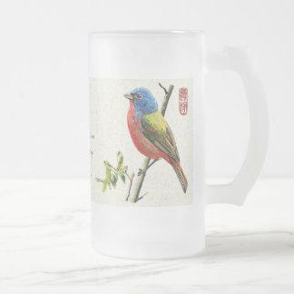 "Mug_Bird_""Vigilance"" Frosted Glass Beer Mug"