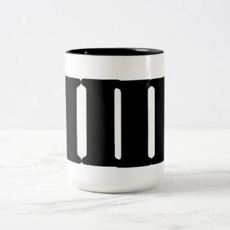 MUG BLACK AND WHITE MODERN ART