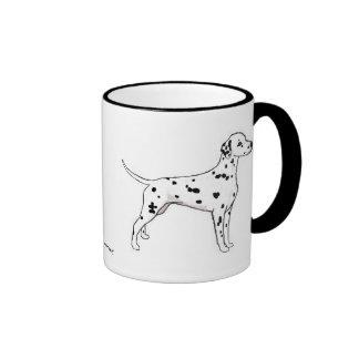 Mug: Black-Spotted Dalmatian Ringer Mug