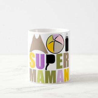 Mug blanco 325 ml mí Super Madre - Logotipo Natura Taza Básica Blanca