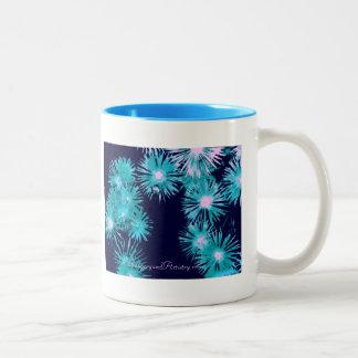 Mug-Blue Ice Plant Two-Tone Coffee Mug