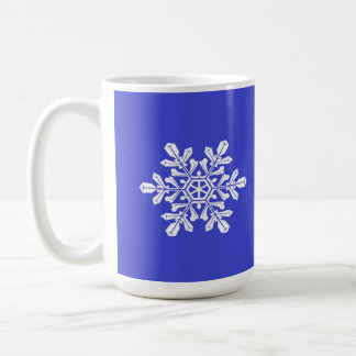 Mug Blue Snow Flake