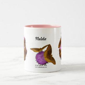 Mug Butterflies and Blooms