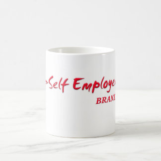 MUG BY SELF EMPLOYED BRAND LOGO