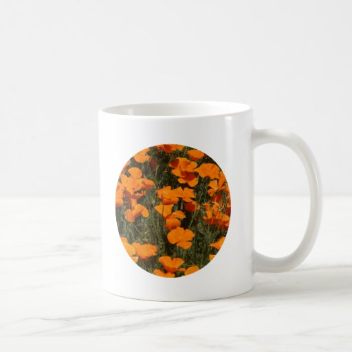 Mug, California Poppy Circle