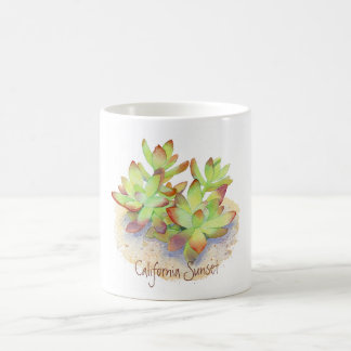 Mug - California Sunset Succulent - Watercolor