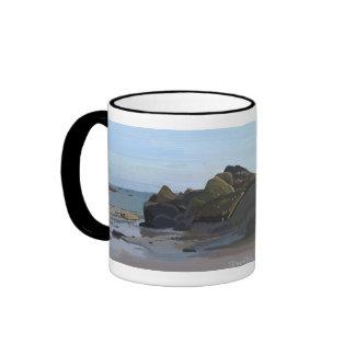 Mug Carnac Plage Taza De Dos Colores