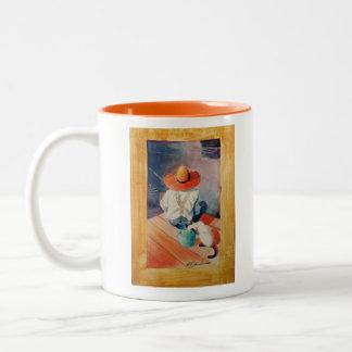 "MUG, ""Catch of the day"" Fishing Two-Tone Coffee Mug"