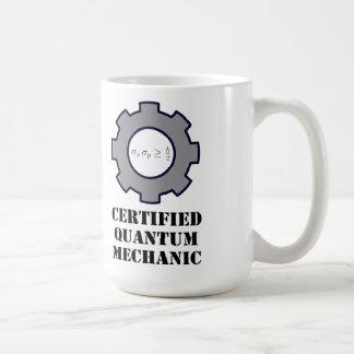 mug, certified quantum mechanic, harmonic osc. classic white coffee mug