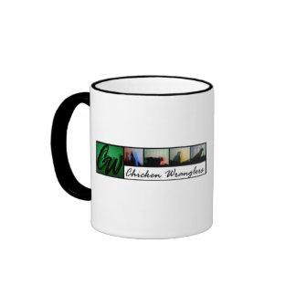 Mug-ChickenWranglers black trim coffee mug