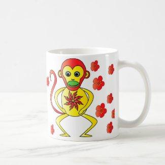 Mug chinese zodiac, monkey, signe chinois, singe