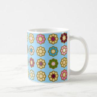 "Mug clásico blanco diseño ""Piso de flores "" Taza Clásica"
