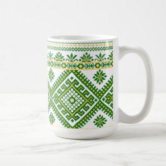 Mug Classic Green Ukrainian Cross Stitch