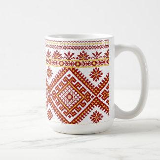 Mug Classic Ukrainian Cross Stitch Red