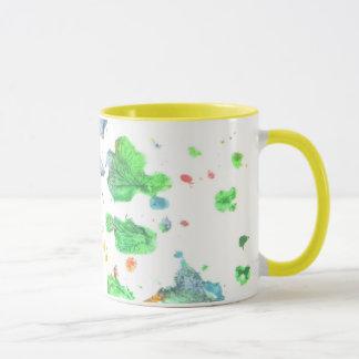 mug coffee art paint oil canvas lover