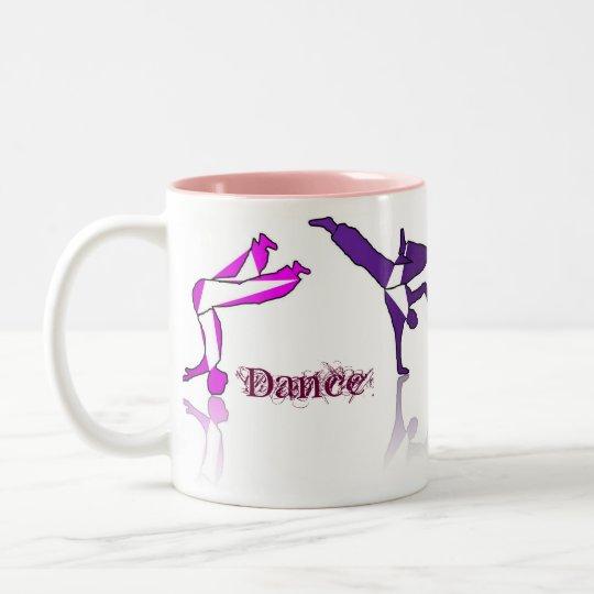 mug coffee drink dancers pink purple
