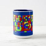 Mug--colorblock design