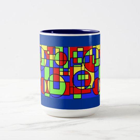 Mug--colorblock design Two-Tone coffee mug