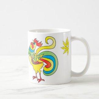 mug coq, mug rooster