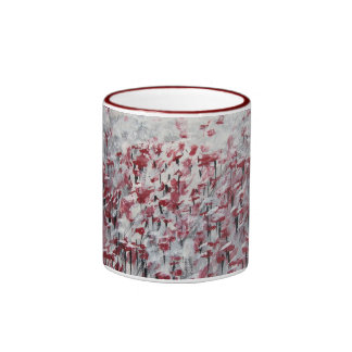 Mug/Cup - Abstract Art - Poppies In Winter