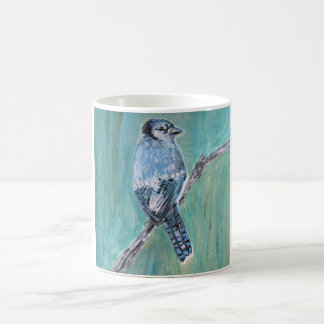 Mug/Cup - Blue Jay Song Bird Acrylic Painting