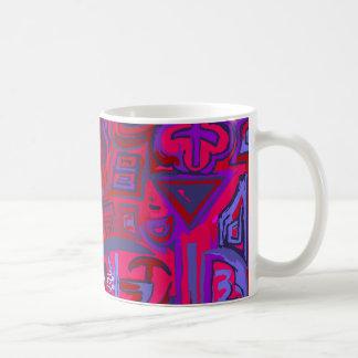 Mug/Cup blue Network symbols Coffee Mug