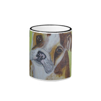 Mug/Cup - Bulldog Art Acrylic Painting