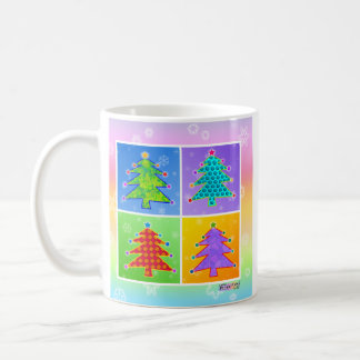 Mug, Cup - Pop Art Christmas Trees