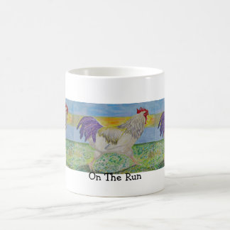 Mug, Cup - Rooster/Chicken, On The Run