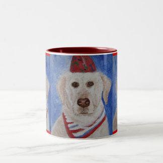 Mug/Cup Yellow Labrador Retriver Dog Art