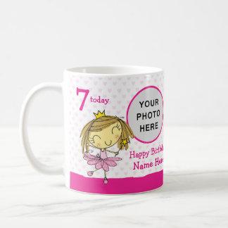 ♥ MUG ♥ Custom 7th Birthday Cute Pink Princess