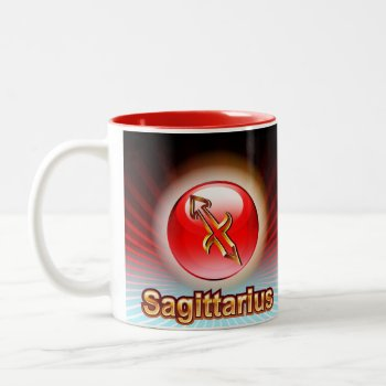 Mug Custom Zodiac Sagittarius Red-nov. 23-dec 22 by CREATIVEforKIDS at Zazzle