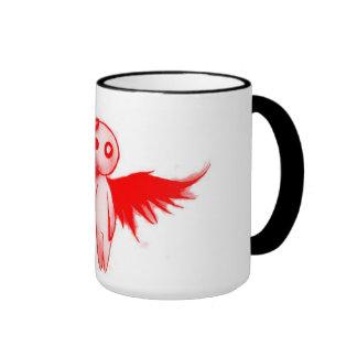 mug, dark and red angel ringer coffee mug