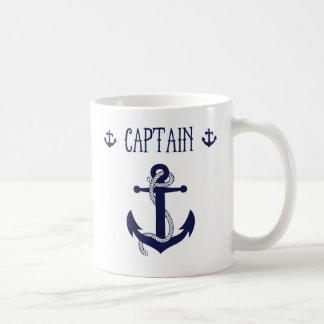 Mug de capitán taza básica blanca