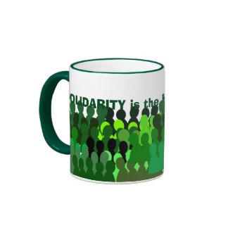 Mug* de la solidaridad taza de dos colores
