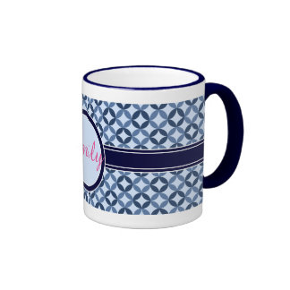 Mug decorated With Patterns And Personalized Yam