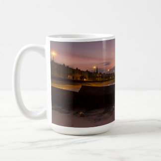 Mug depicting portobello in the UK at sunset.