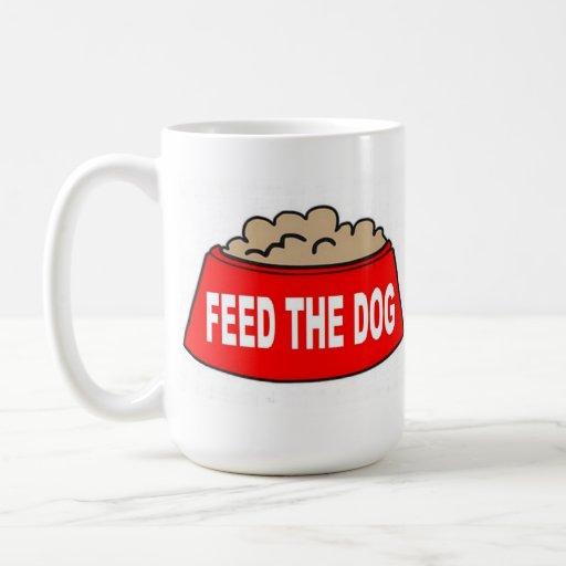 Mug Dog Food Bowl Red Feed The Dog