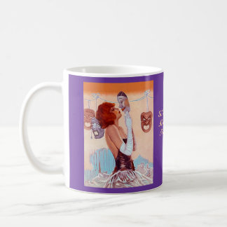MUG ~ DRAMA GIRL THEATRE MASKS & SHAKESPEARE QUOTE